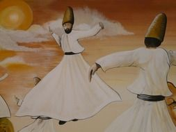 graphic image of dancing dervishes