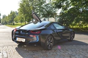 Bmv I8 Auto Black Sports Car