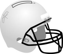 Colorful cartoon helmet for the football clipart