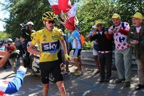 Cyclists Chris Froome Ventoux