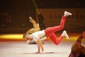 break dance as a circus show