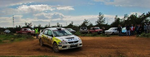 cars on a rally in cyprus