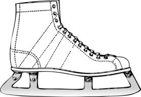 Ice Skate Boot, drawing