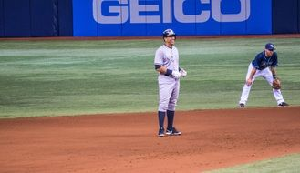 Alex Rodriguez on a baseball field