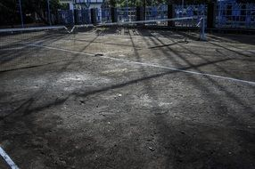 tennis court in Indonesia