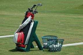Golf Bag Clubs Ball Golf Sport