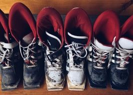 old ski boots