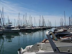 yachts at the port in Saint-Raphael, France