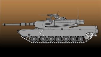 gray tank as a graphic image
