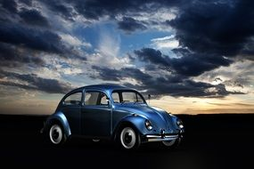 computer generated image of a blue volkswagen beetle