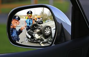 Autobahn accident germany car road free image