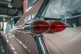 closeup photo of the oldtimer Cadillac