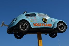 Vw Antique Car in a sky