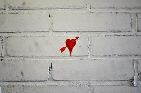 heart Graffiti on Wall