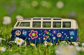 Vw Bulli Meadow Peace Vw Bus N2