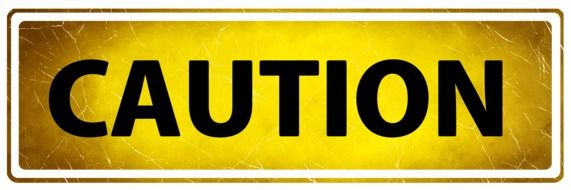 Clip art of Caution sign
