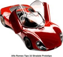 Alfa Romeo, luxury red sports car, illustration