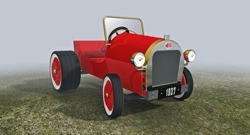 Clipart of red old car
