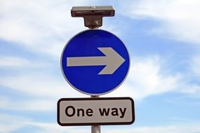 one way sign drawing