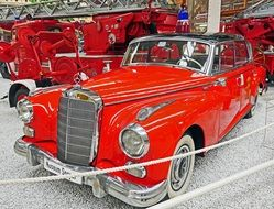 Red shining Mercedes 300 car