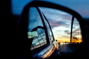 Rear Mirror on a car