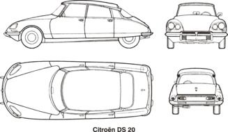 Citroen ds 20 drawing