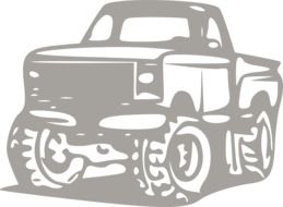 drawing of an off-road vehicle on a white background