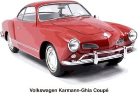 volkswaagen karmann-ghla coupe