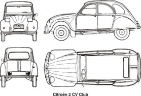 Cars Citroen Classic drawing