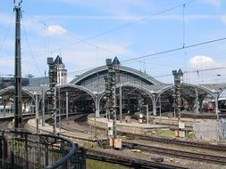 distant view of the central train station in cologne