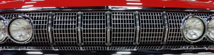 Grill of Vintage Car close up