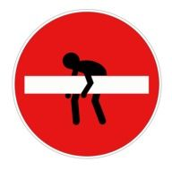 traffic sign with a man