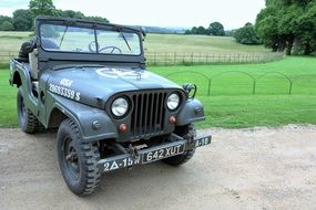 Willys Jeep, retro military automobile