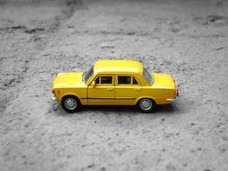 Lada Yellow model toy