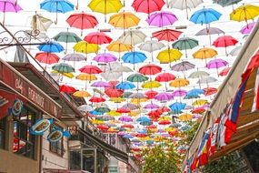 Street with Umbrella,Antalya