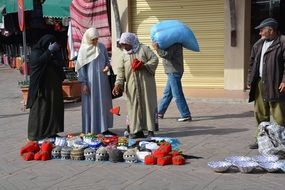 street trade in Morocco