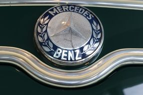 retro mercedes badge