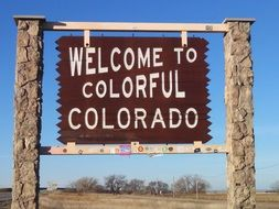 Colorado Sign Welcome Travel