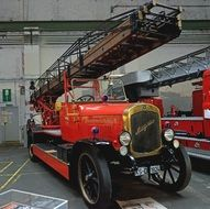 old fire truck in museum