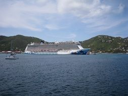 cruise ship off the coast of british virgin islands