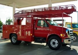 Red Fire Truck in California