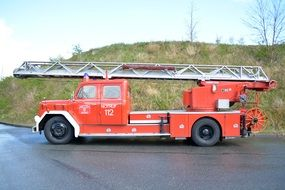 red Magirus Fire Truck
