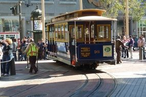 traditional tram in San Francisco