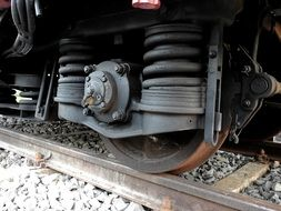 steel tires of a train