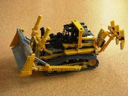 Lego tractor on the floor