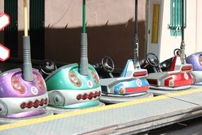 picture of the Bumper Cars in amusement park