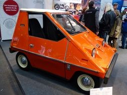 funny orange retro car