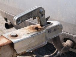 Rusty hitch on a trailer