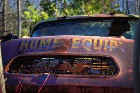 rusty vintage truck close-up