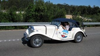 white Oldtimer Historically